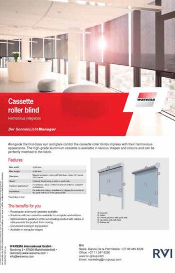 Cassette roller blind sunglare 2019