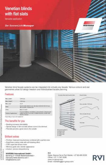 Venetian blinds with flat slats 2019